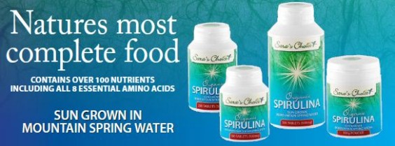 Saras Choice certified organic spirulina with SGS certification - Nature's Multivitamin